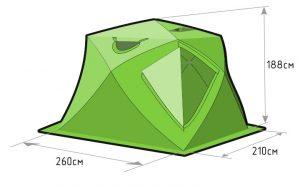 Фото Зимняя палатка Лотос Куб 4 Компакт (лонг)
